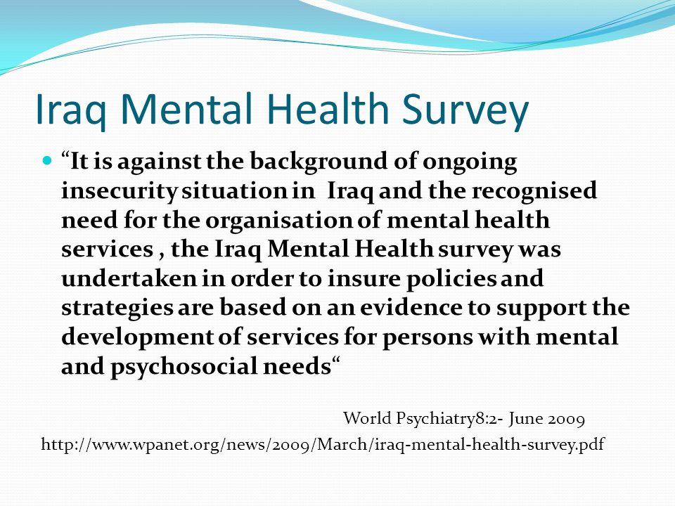 Iraq Mental Health Survey