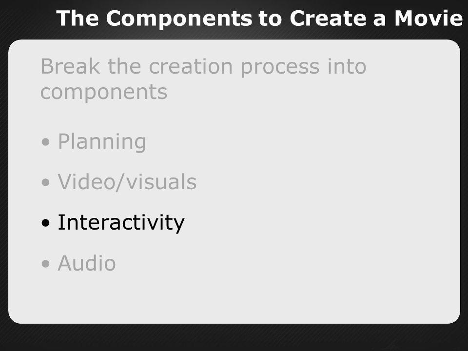 The Components to Create a Movie
