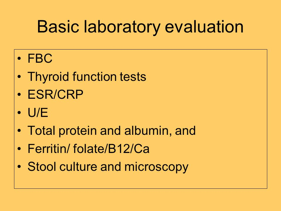 Basic laboratory evaluation