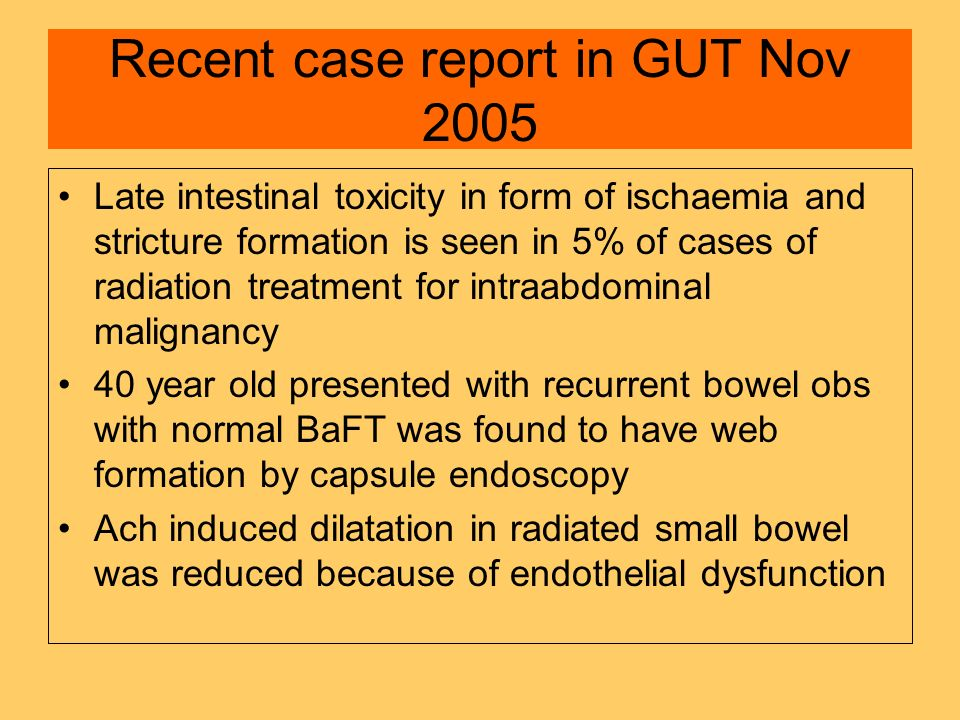 Recent case report in GUT Nov 2005