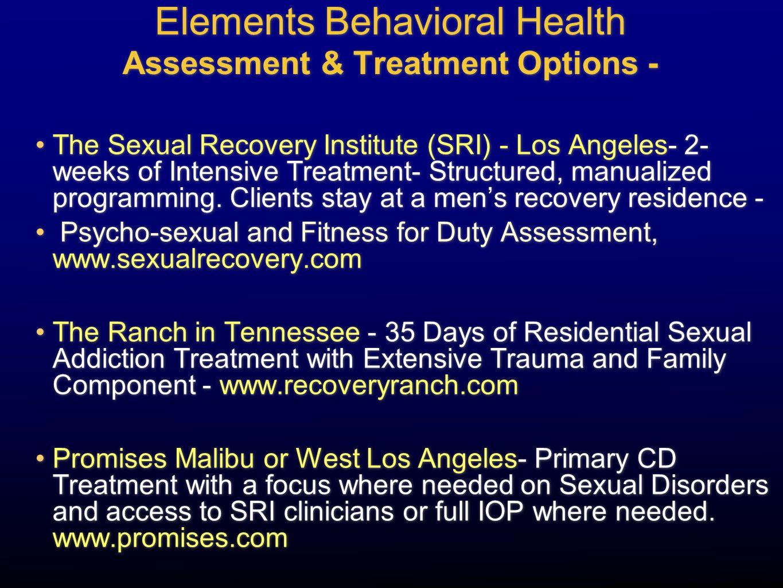 Elements Behavioral Health Assessment & Treatment Options -