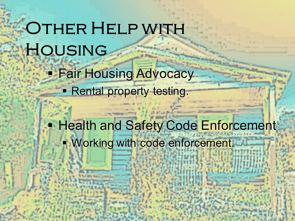 Other Help with Housing