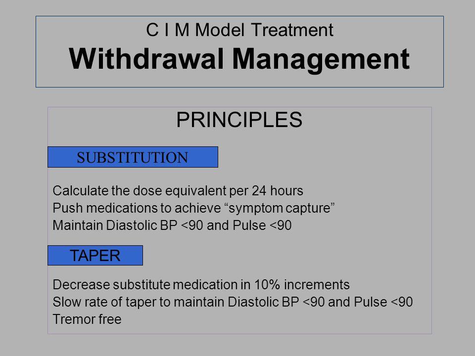 C I M Model Treatment Withdrawal Management
