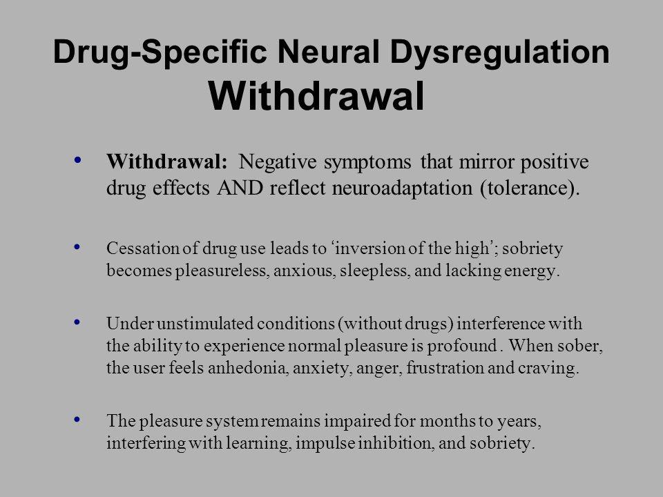 Drug-Specific Neural Dysregulation Withdrawal
