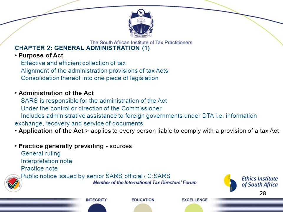CHAPTER 2: GENERAL ADMINISTRATION (1)