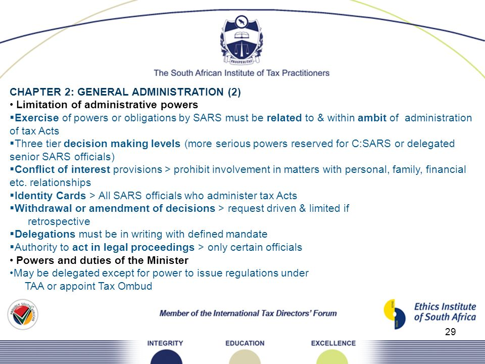CHAPTER 2: GENERAL ADMINISTRATION (2)