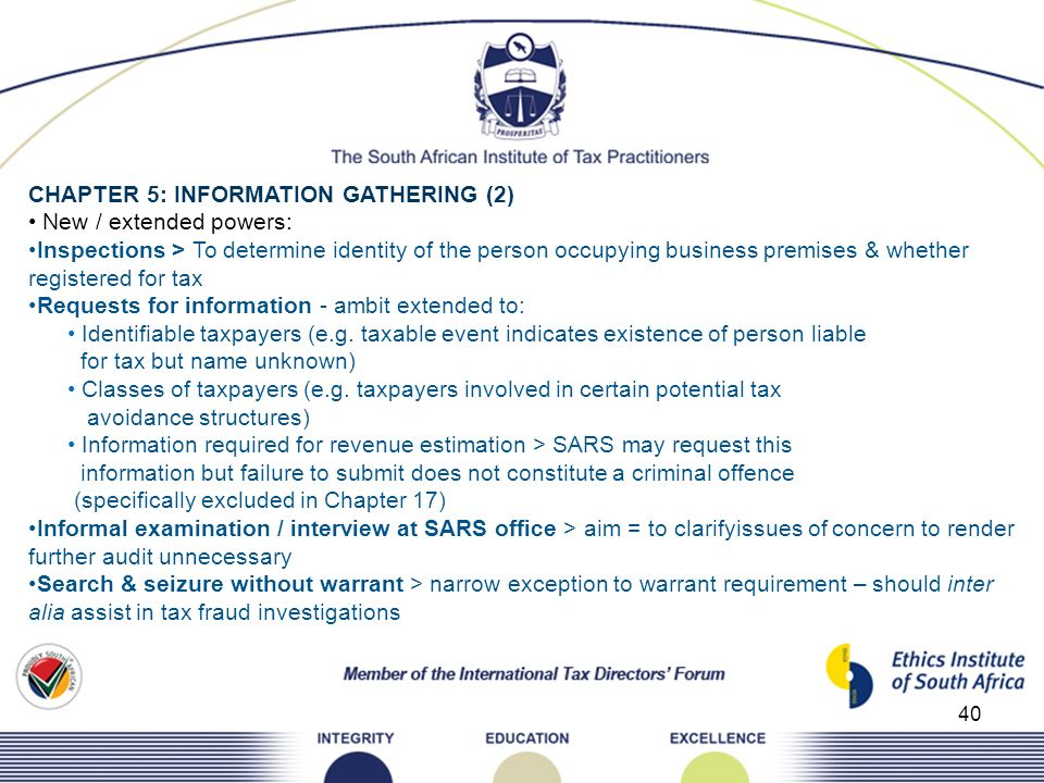 CHAPTER 5: INFORMATION GATHERING (2)