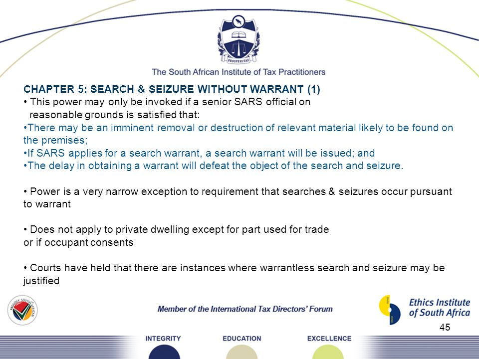CHAPTER 5: SEARCH & SEIZURE WITHOUT WARRANT (1)