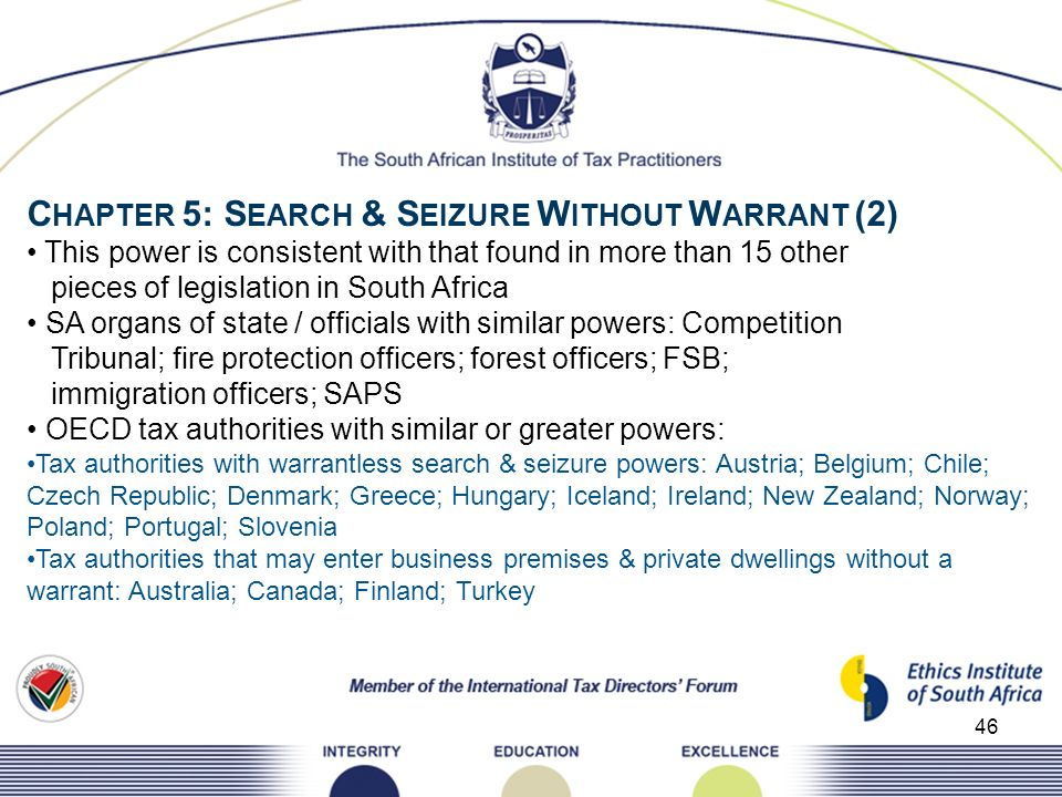 CHAPTER 5: SEARCH & SEIZURE WITHOUT WARRANT (2)