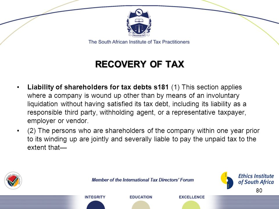 RECOVERY OF TAX