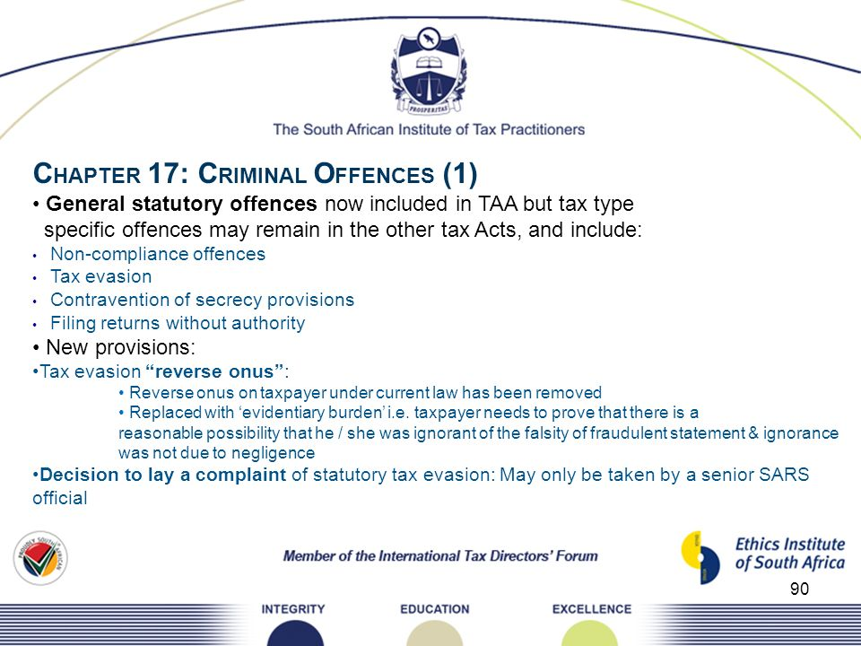 CHAPTER 17: CRIMINAL OFFENCES (1)