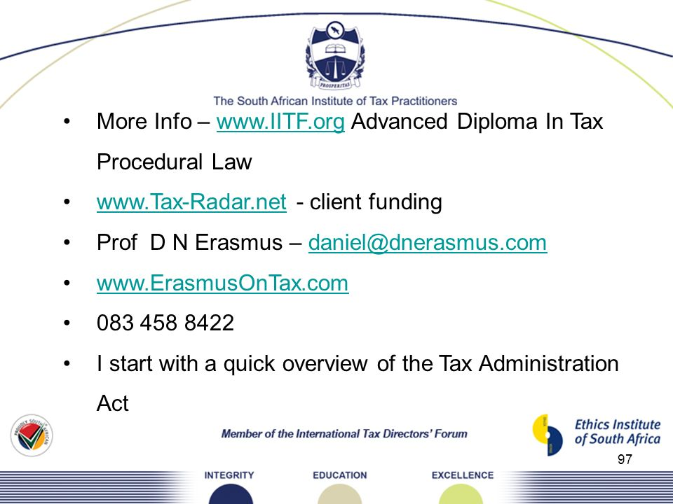 More Info –   Advanced Diploma In Tax Procedural Law
