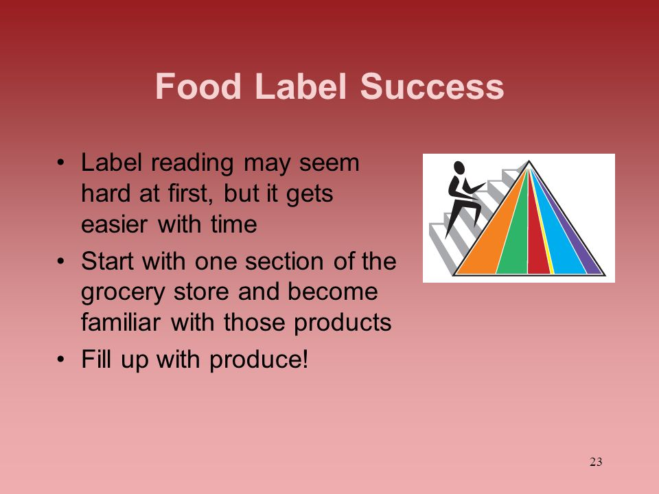 Food Label Success Label reading may seem hard at first, but it gets easier with time.