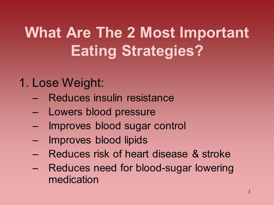 What Are The 2 Most Important Eating Strategies