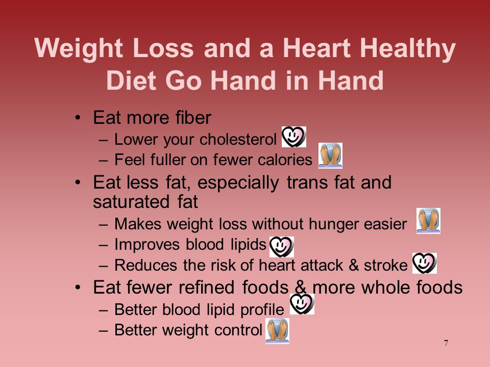 Weight Loss and a Heart Healthy Diet Go Hand in Hand