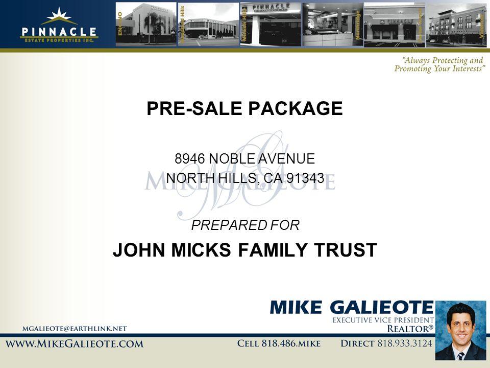 JOHN MICKS FAMILY TRUST