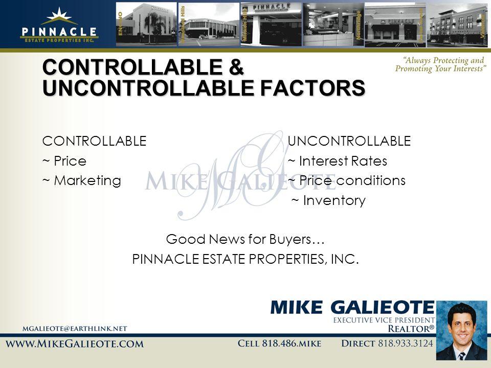 CONTROLLABLE & UNCONTROLLABLE FACTORS