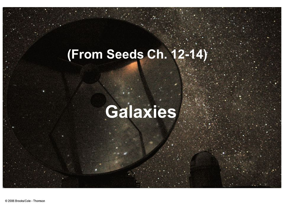 (From Seeds Ch. 12-14) Galaxies