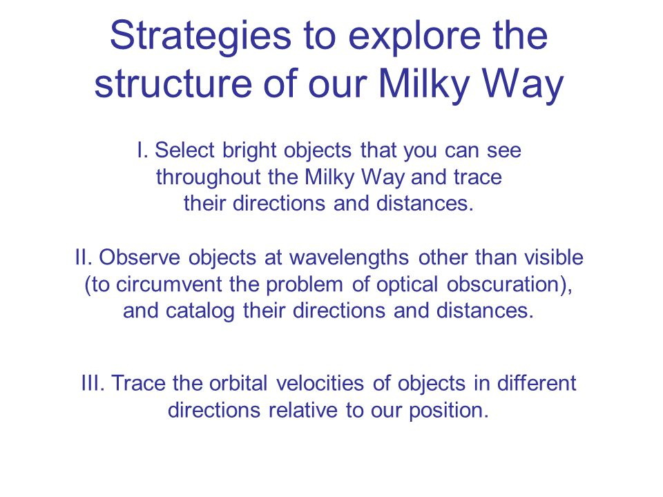 Strategies to explore the structure of our Milky Way