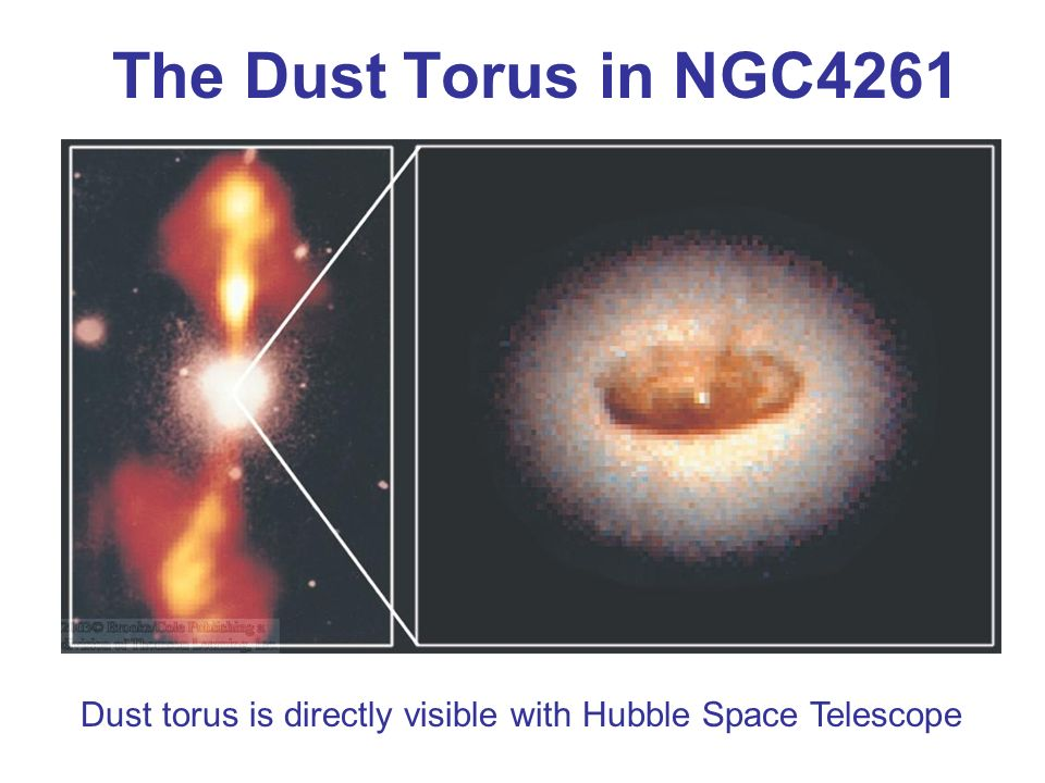 The Dust Torus in NGC4261 Dust torus is directly visible with Hubble Space Telescope