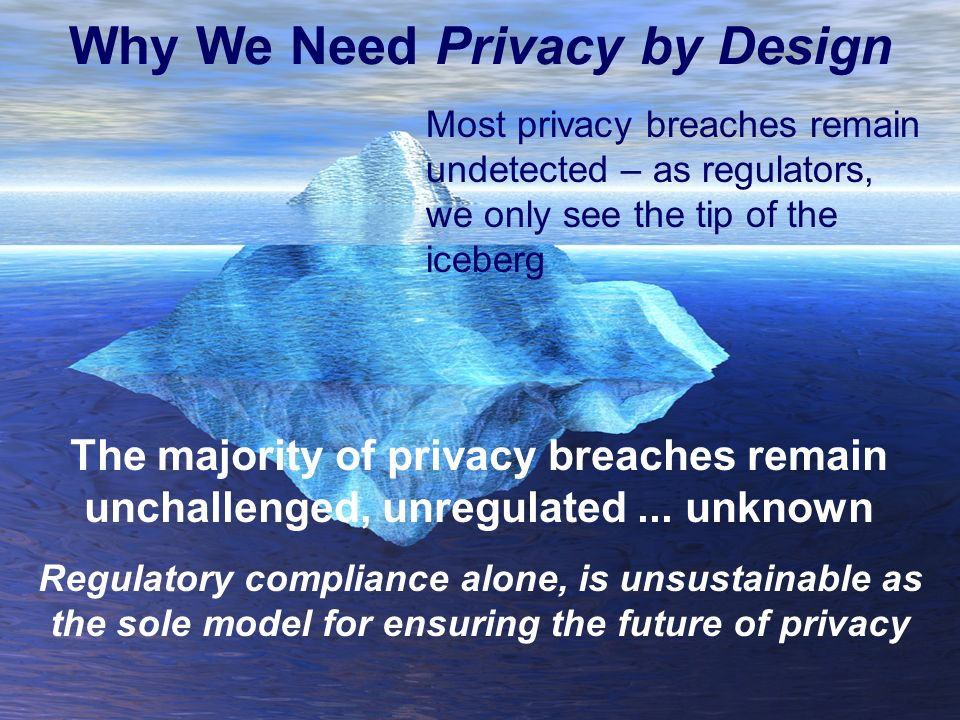 Why We Need Privacy by Design