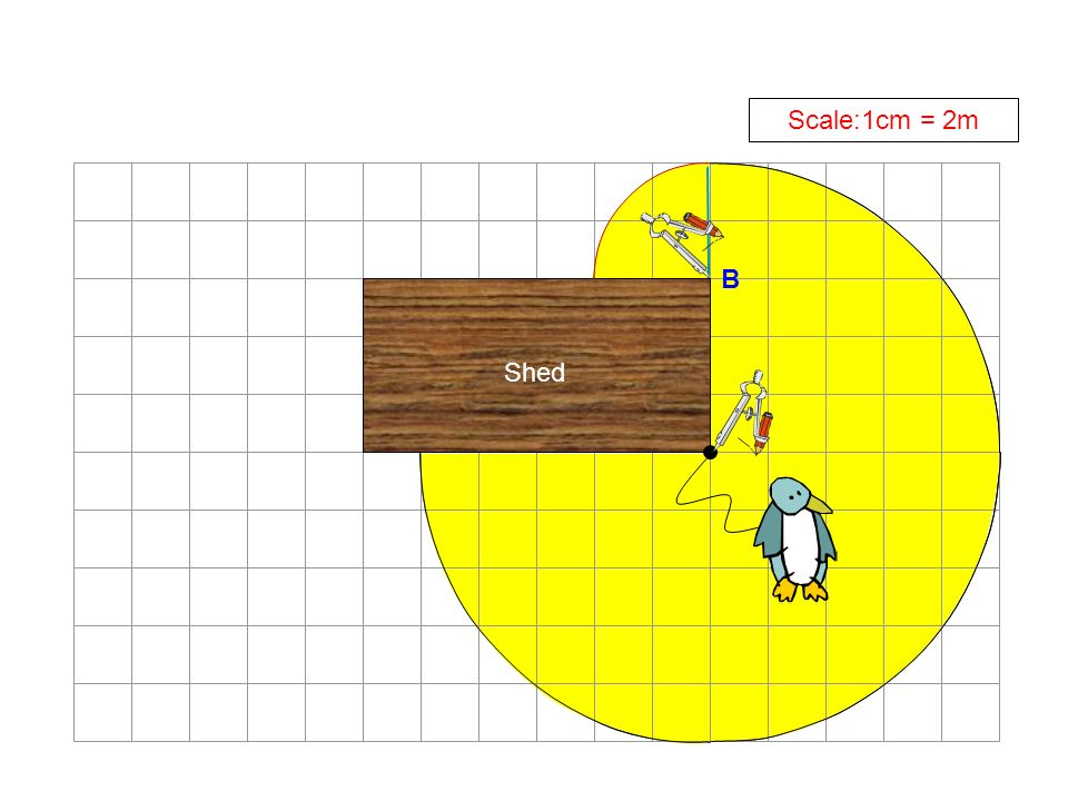 Scale:1cm = 2m B Shed