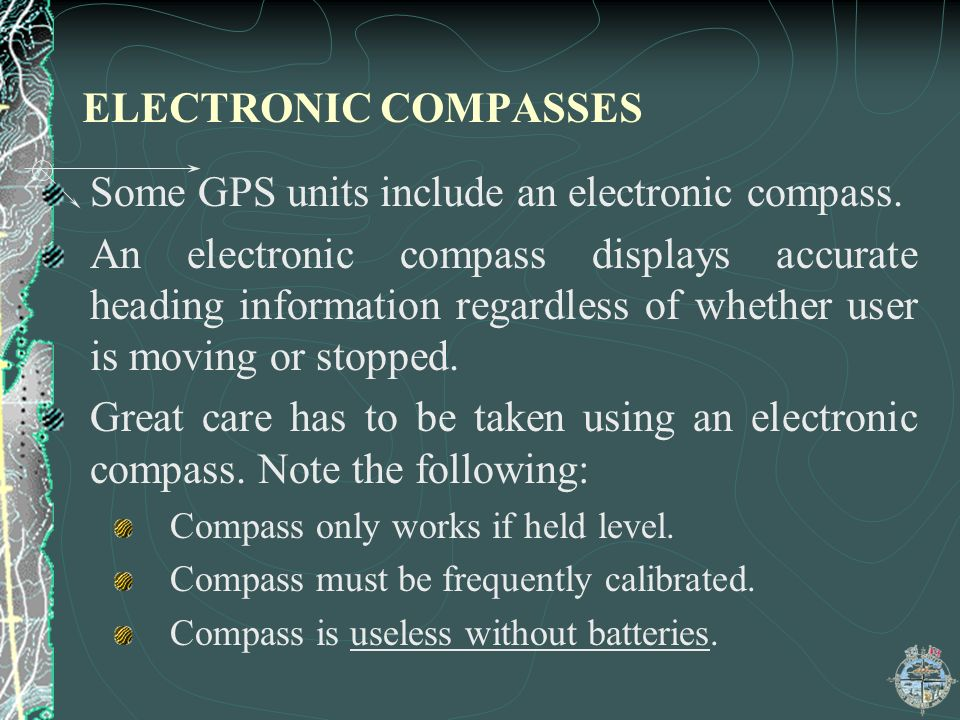 Some GPS units include an electronic compass.