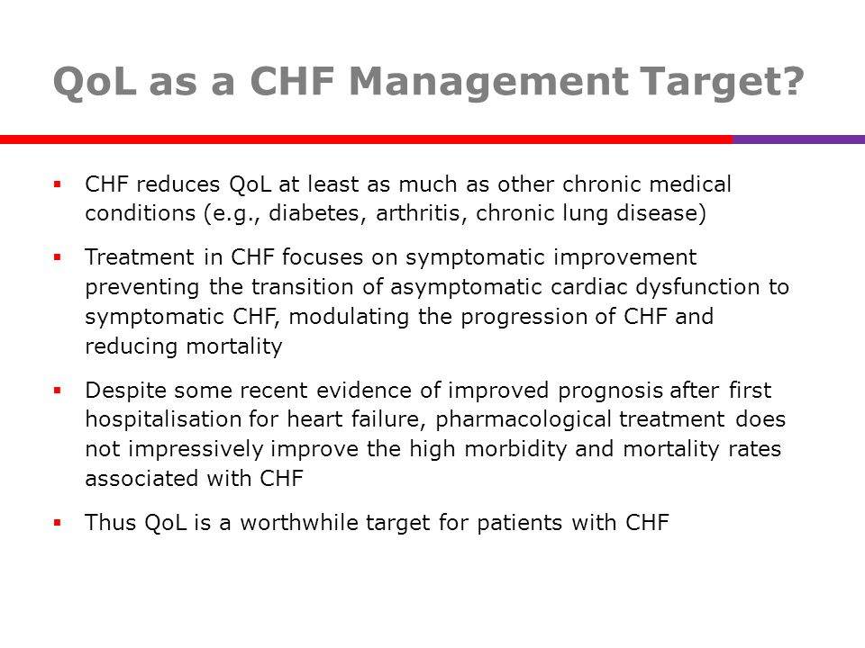 QoL as a CHF Management Target