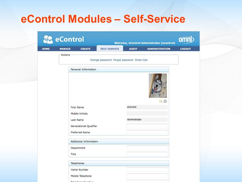 eControl Modules – Self-Service