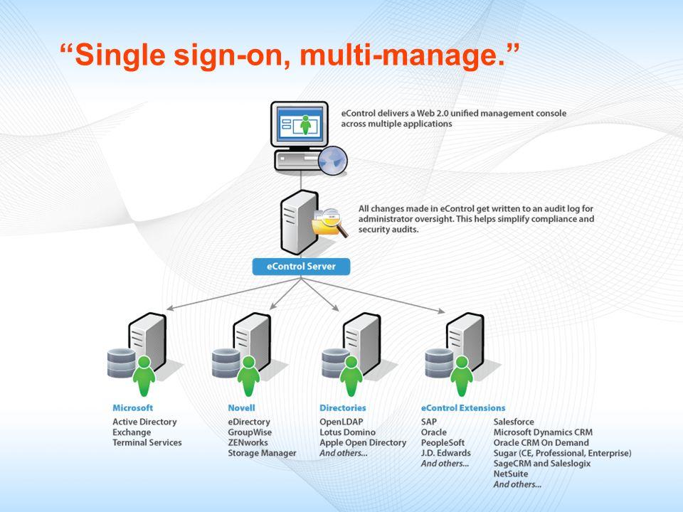 Single sign-on, multi-manage.