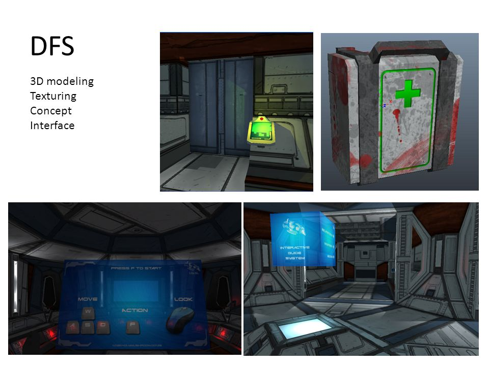 DFS 3D modeling Texturing Concept Interface