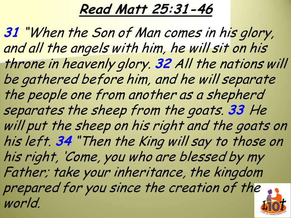 Read Matt 25:31-46