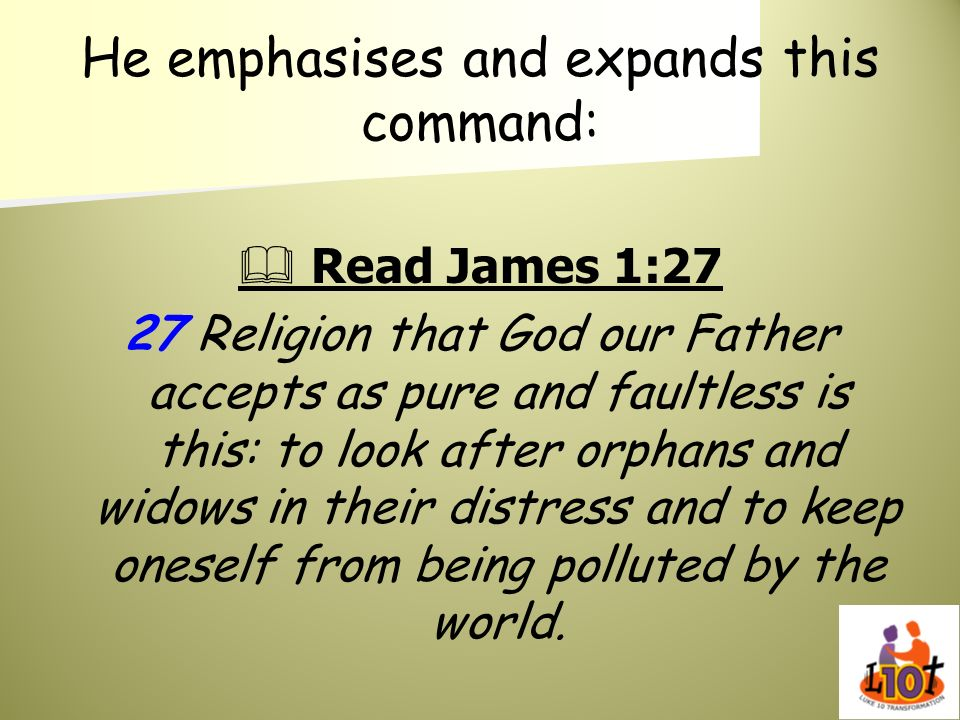 He emphasises and expands this command: