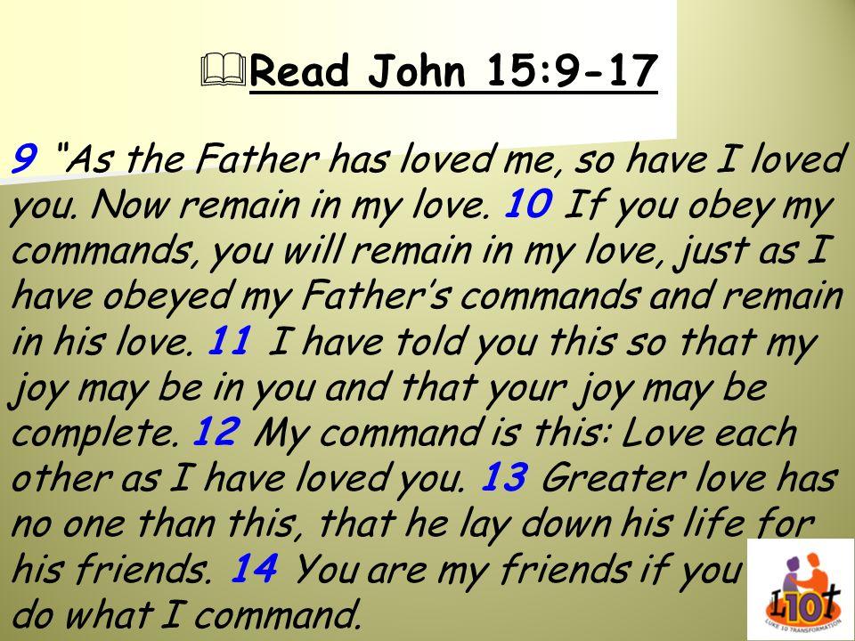 Read John 15:9-17