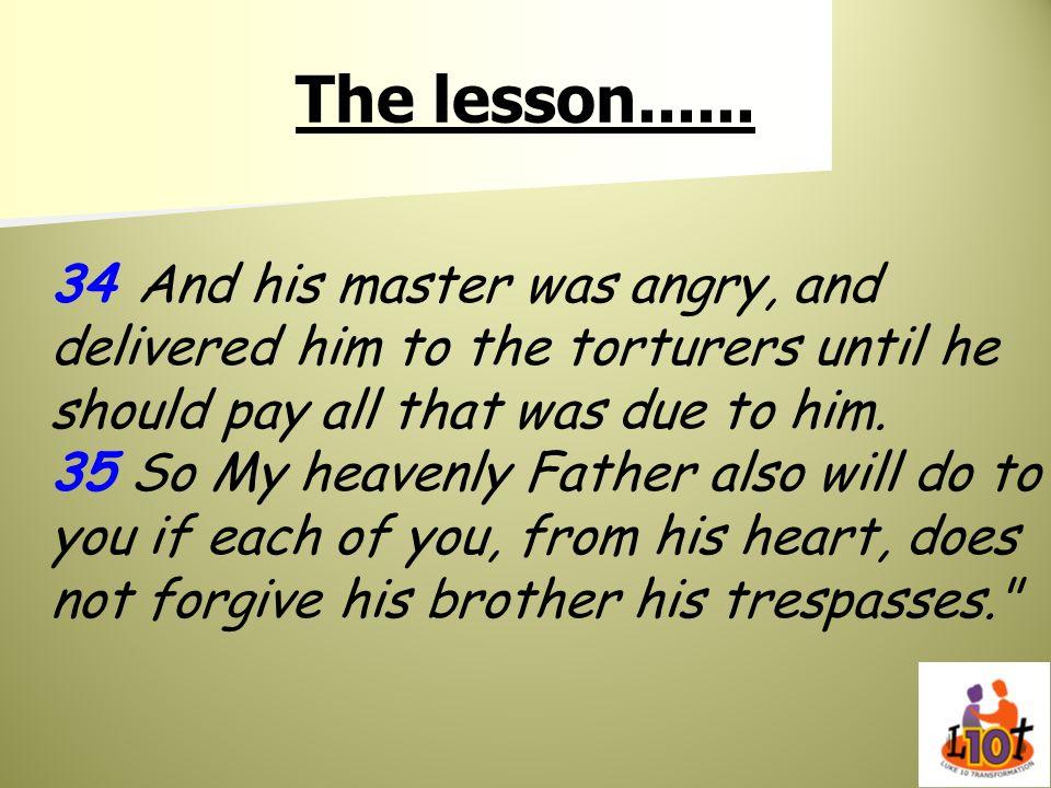 The lesson......