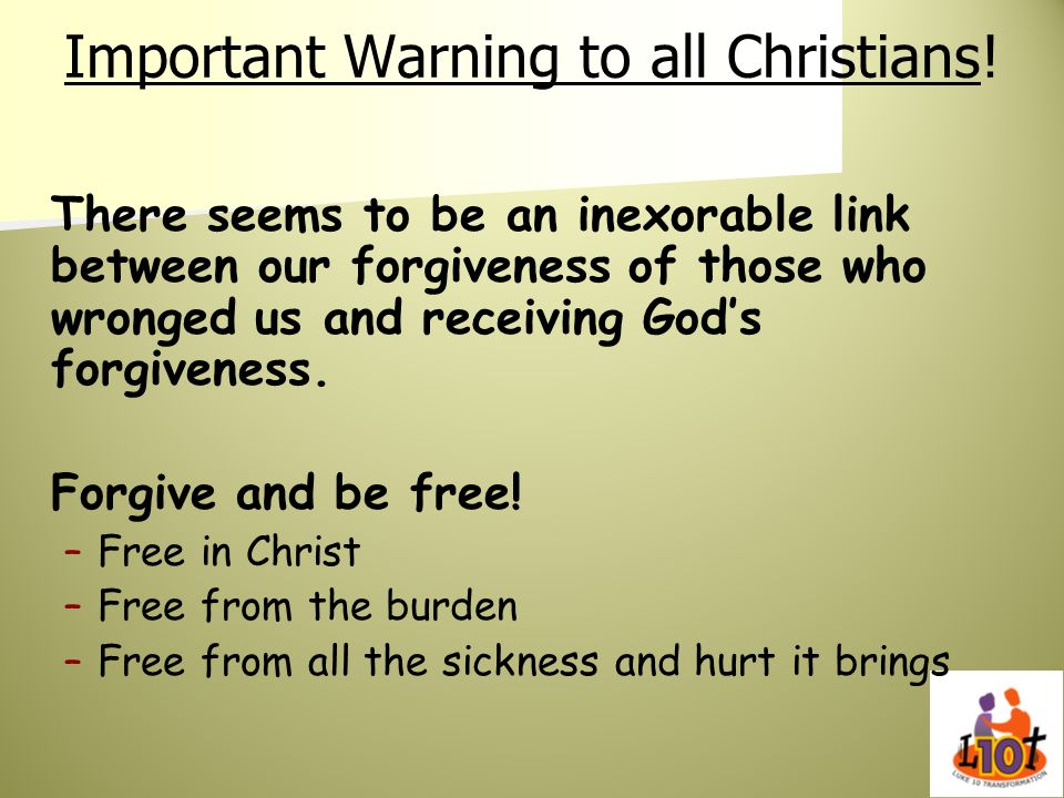 Important Warning to all Christians!