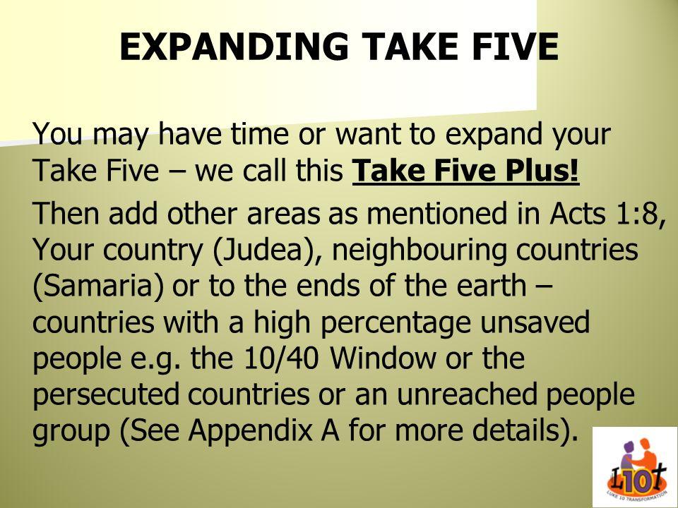EXPANDING TAKE FIVE