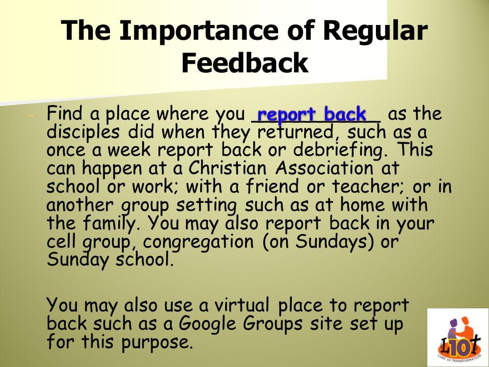 The Importance of Regular Feedback