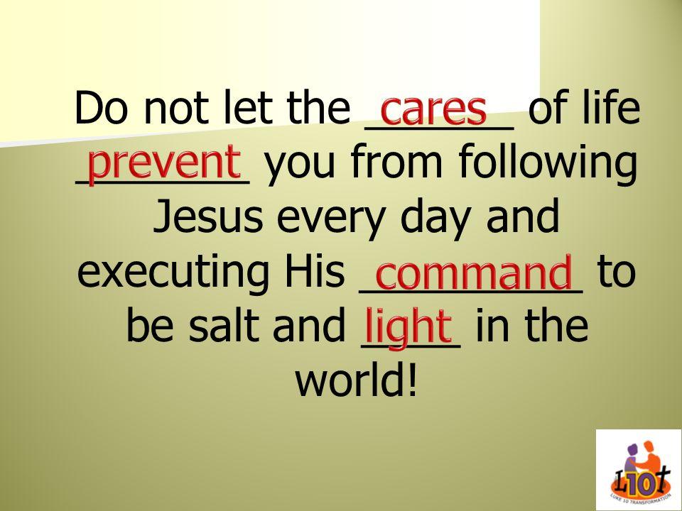 cares prevent command light