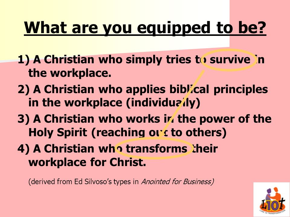 What are you equipped to be