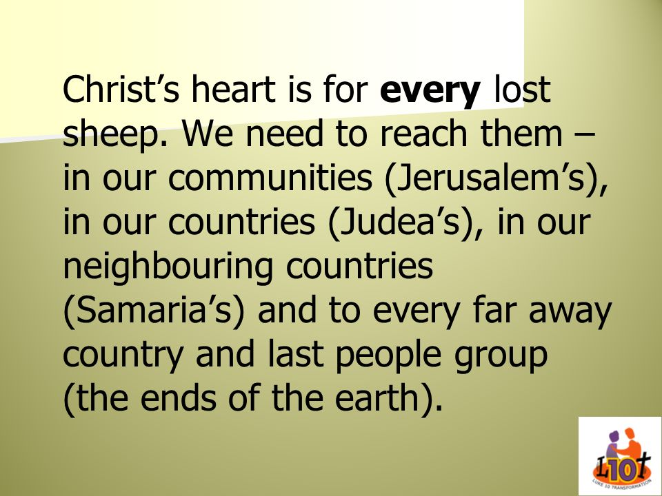 Christ's heart is for every lost sheep