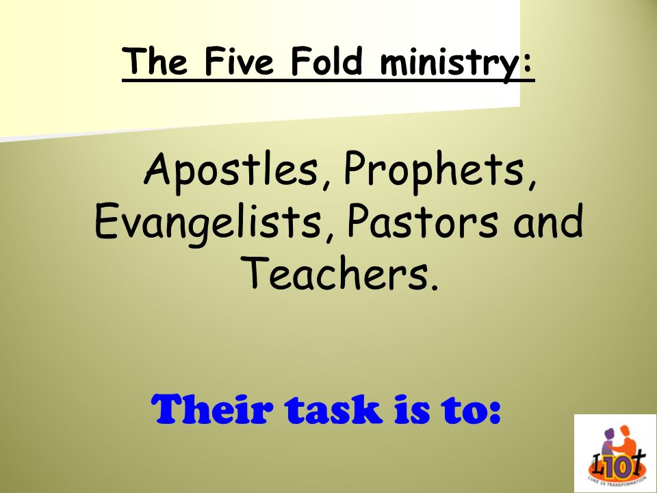 The Five Fold ministry: