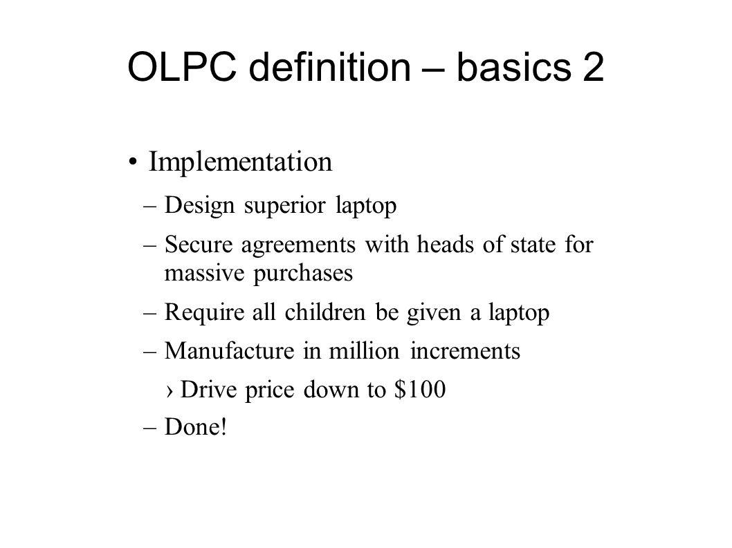 OLPC definition – basics 2
