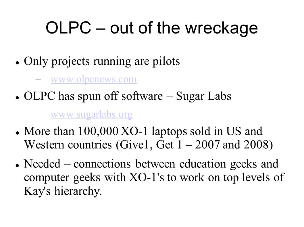 OLPC – out of the wreckage