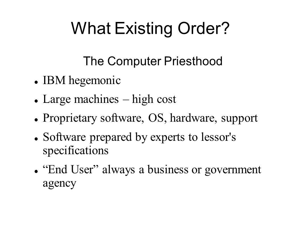 The Computer Priesthood