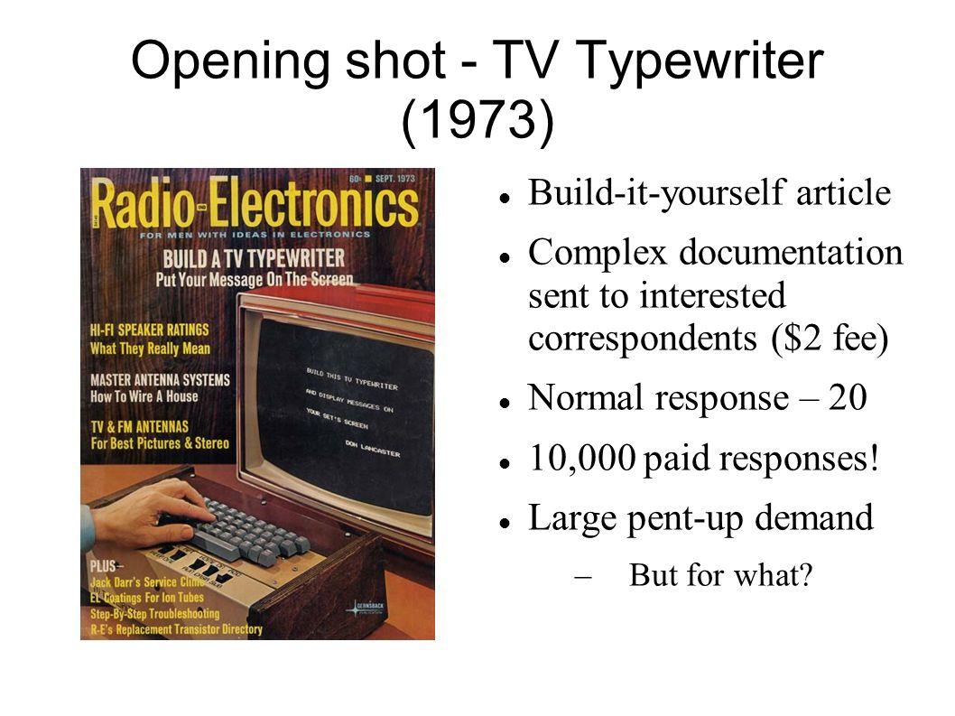 Opening shot - TV Typewriter (1973)