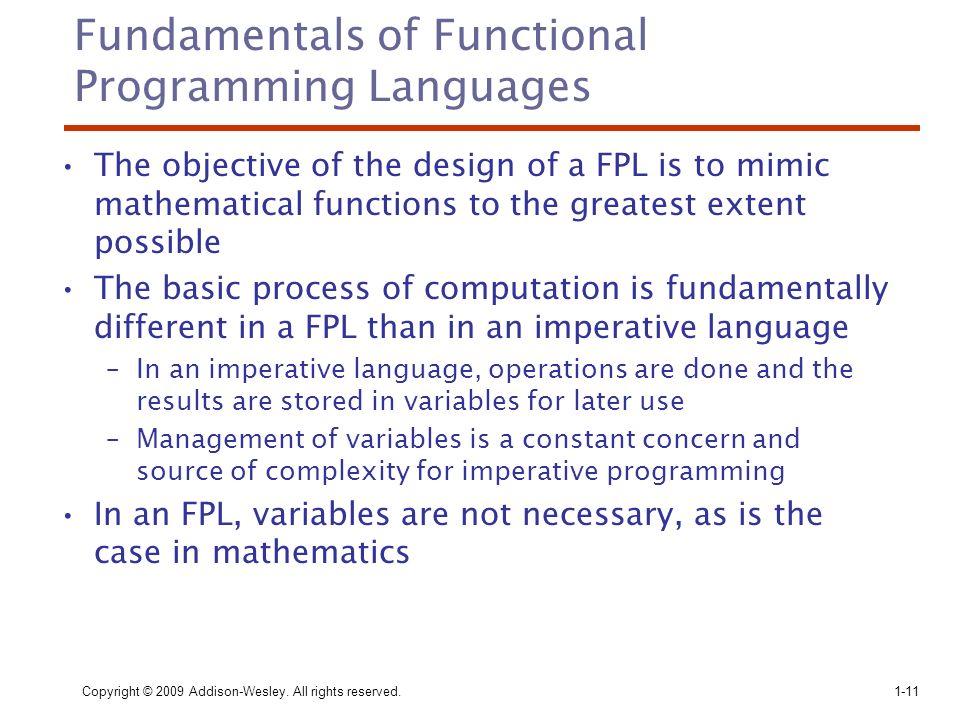 Fundamentals of Functional Programming Languages