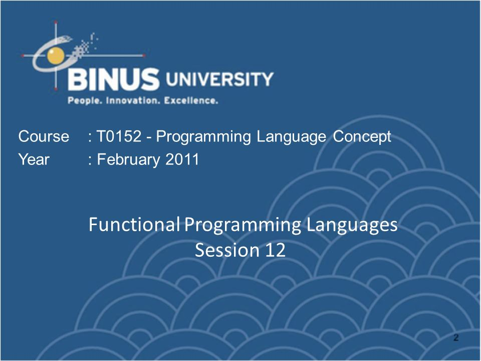 Functional Programming Languages Session 12