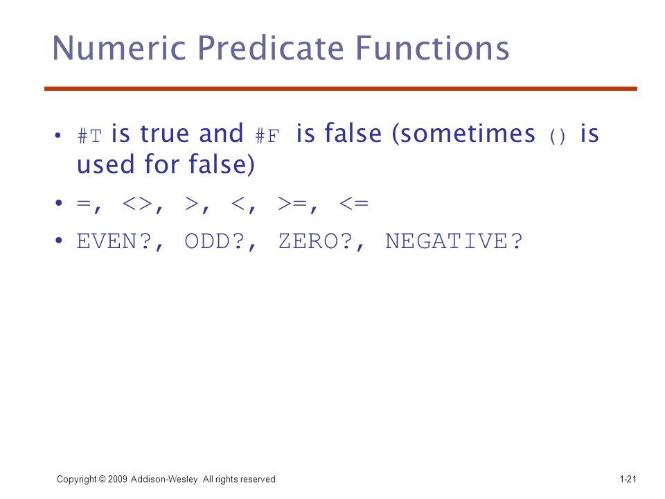Numeric Predicate Functions