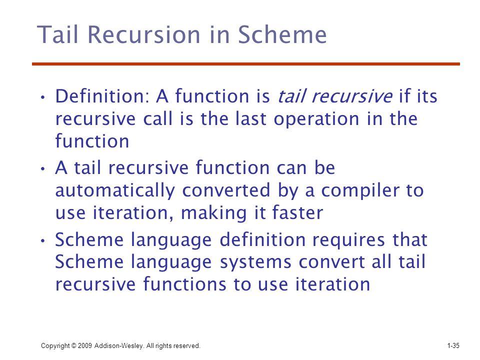 Tail Recursion in Scheme